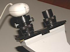 Webcam-Adapter, am Okular montiert