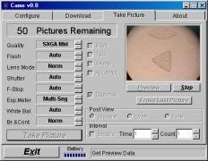 Screenshot Fernsteuerprogramm Coolpix came