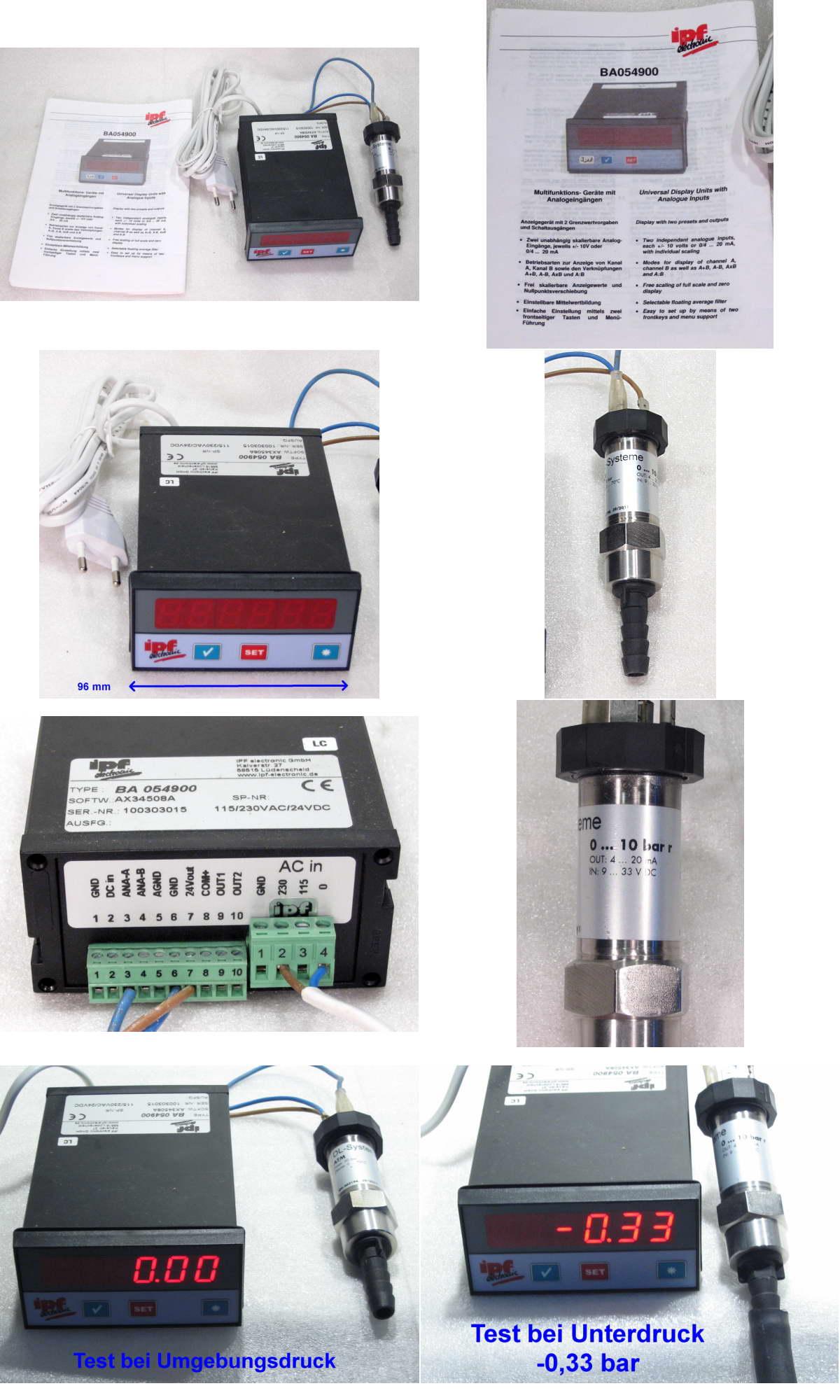 druck messger t vakuummeter manometer vacuum pressure meter gauge 1 10bar ebay. Black Bedroom Furniture Sets. Home Design Ideas